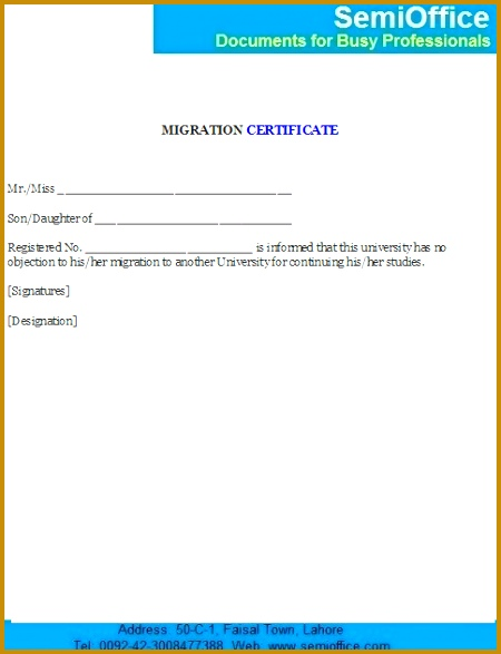 No Objection Certificate Format No Objection Certificate from University 450587