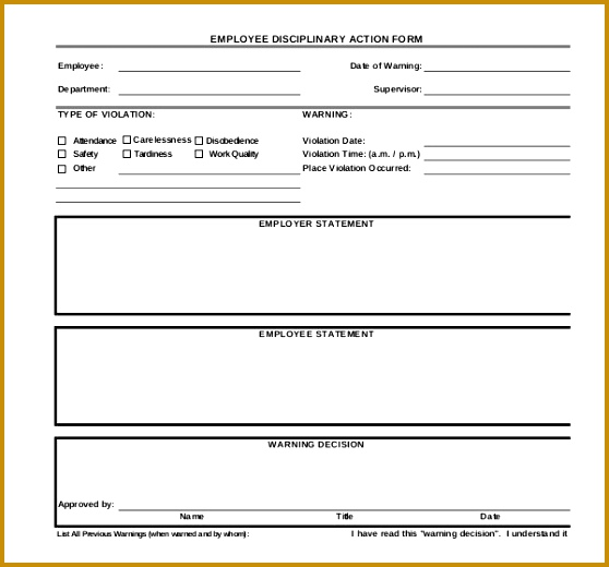 progressive discipline form template