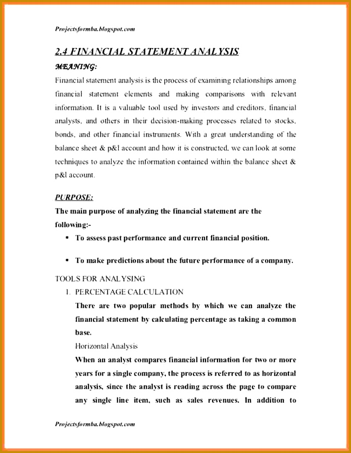 sample financial analysis report template a project report on analysis of financial statement of icici bank 46 728 cb= 895695