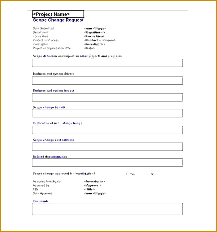 Project Request Form Template Excel  Fabtemplatez