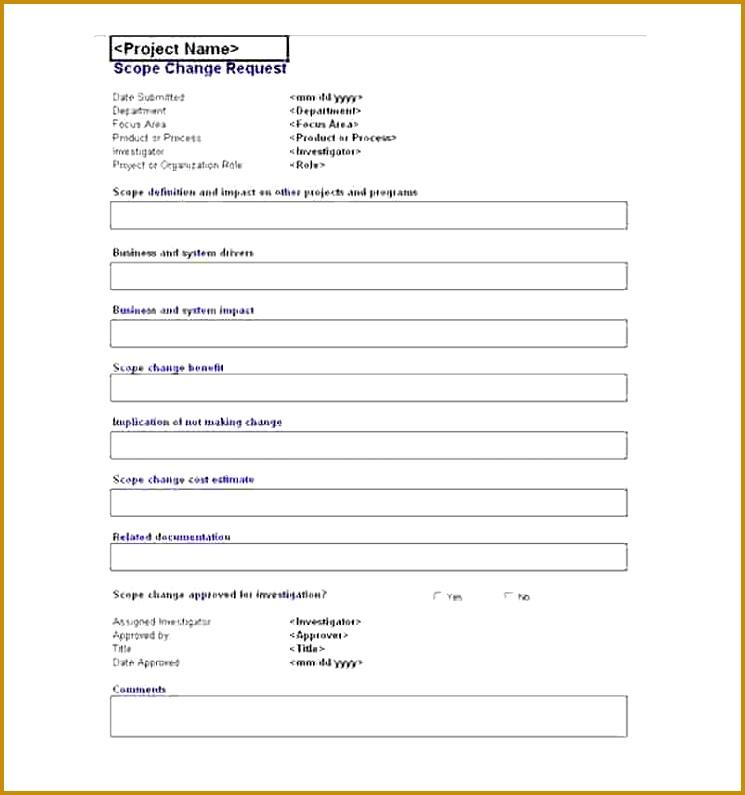 Project Request Form Template Excel  Fabtemplatez