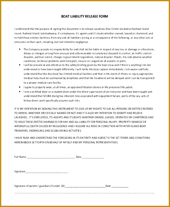 Property Damage Release Form Template  Fabtemplatez