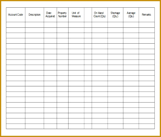 Example Equipment Inventory Template Download 465544