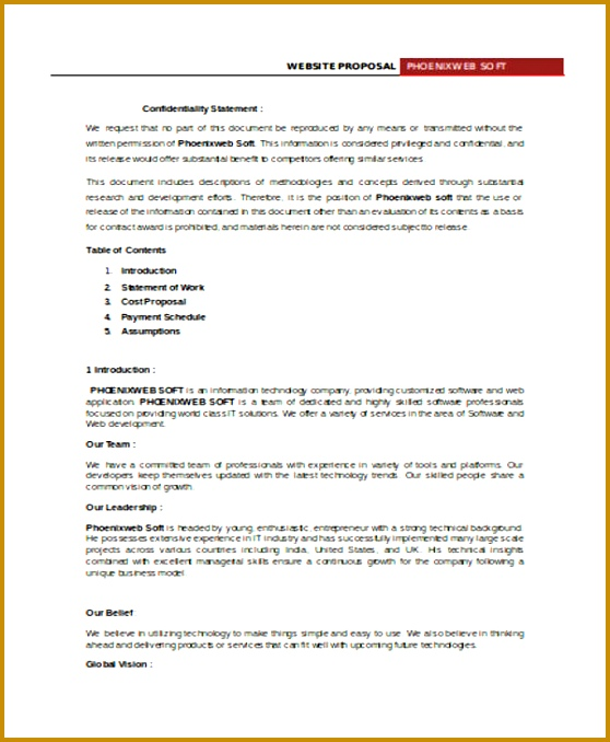 Proposal And Contract Template  Fabtemplatez