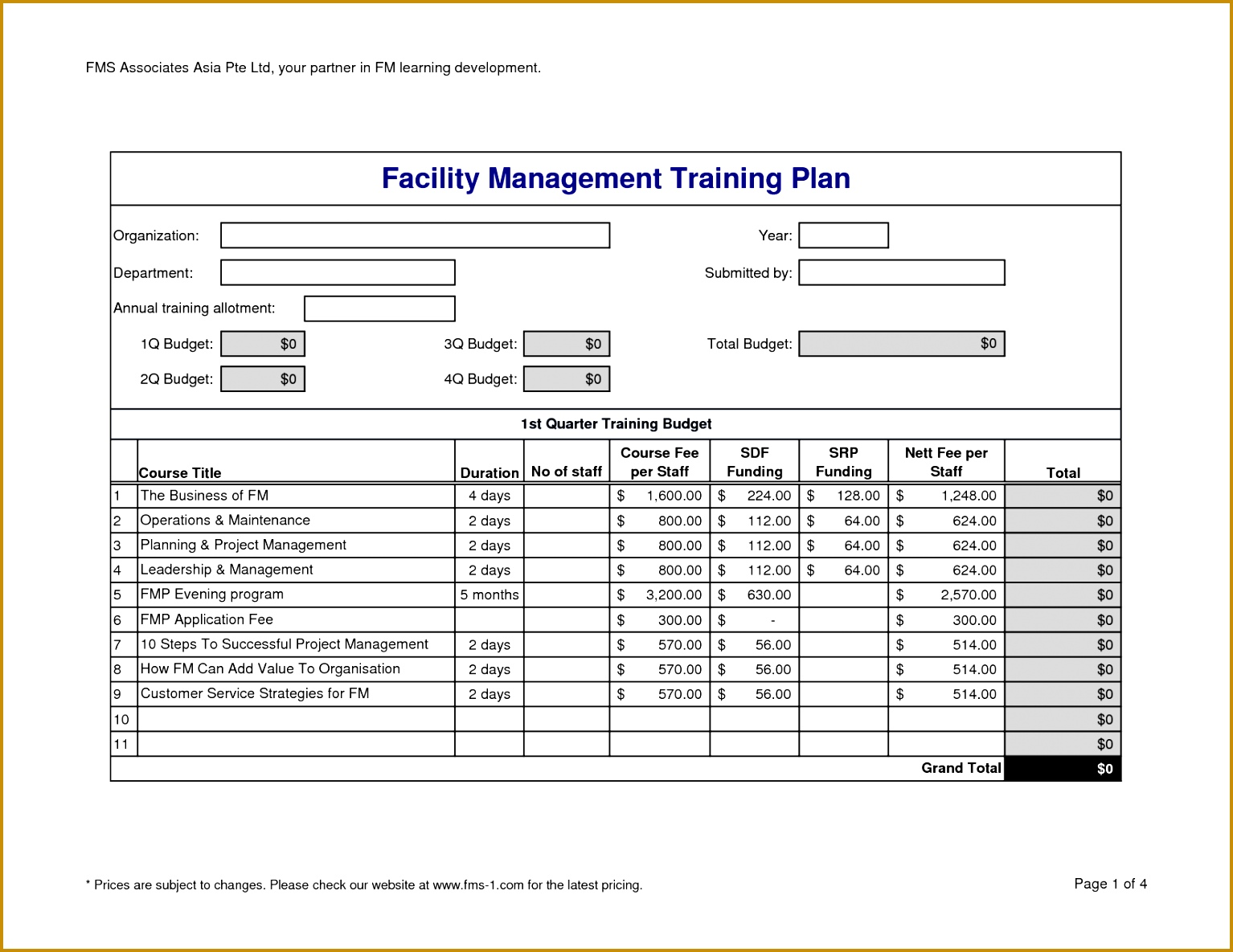 Training Plan Bud Template 15341185