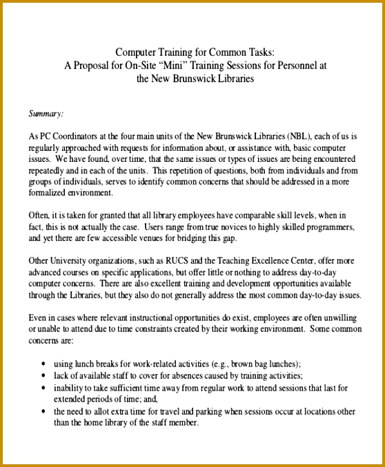 puter Training Proposal Letter 558678