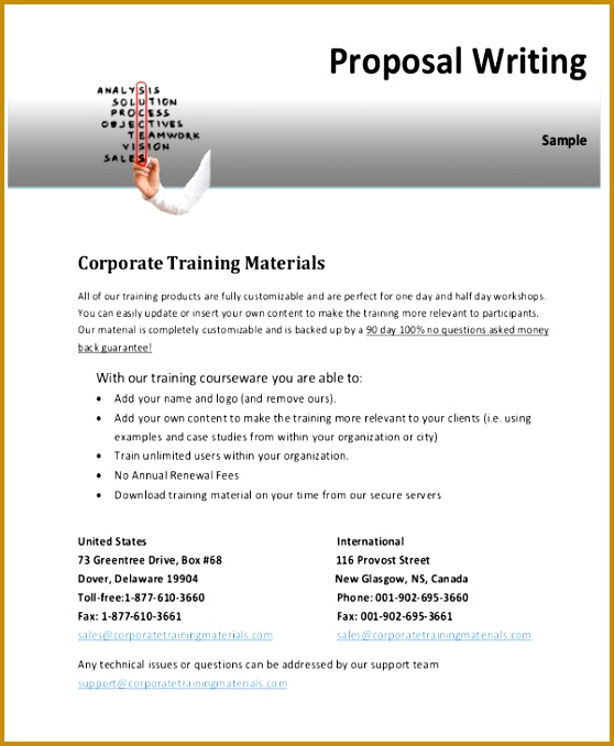 Corporate Training Proposal Letter 678558