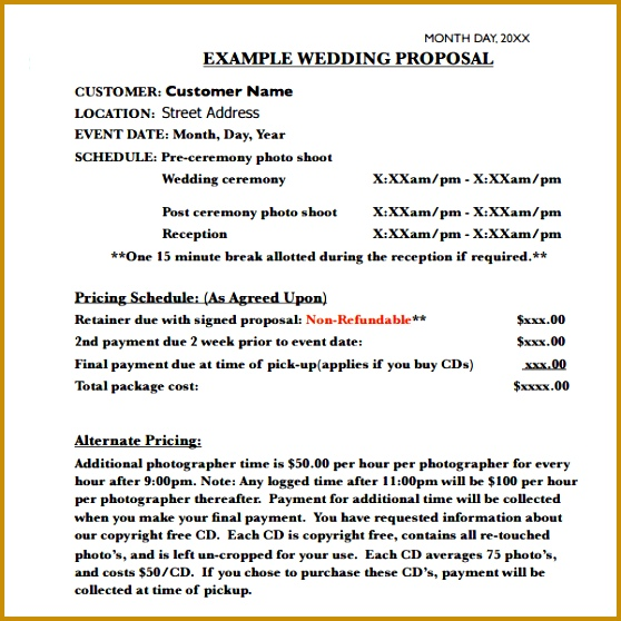 8 Wedding Proposal Templates Pdf 558558