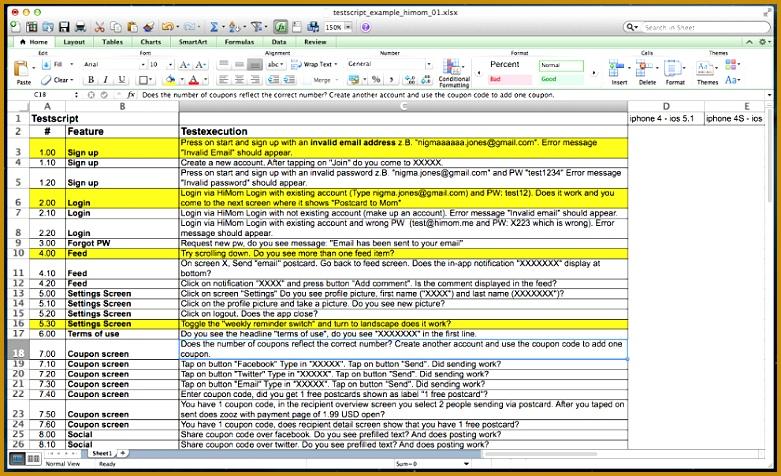 5 qa sheet template
