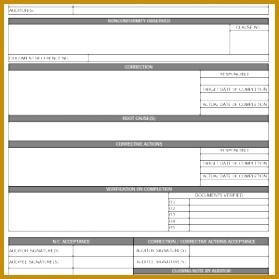 quality non conformance report template - Lamasa