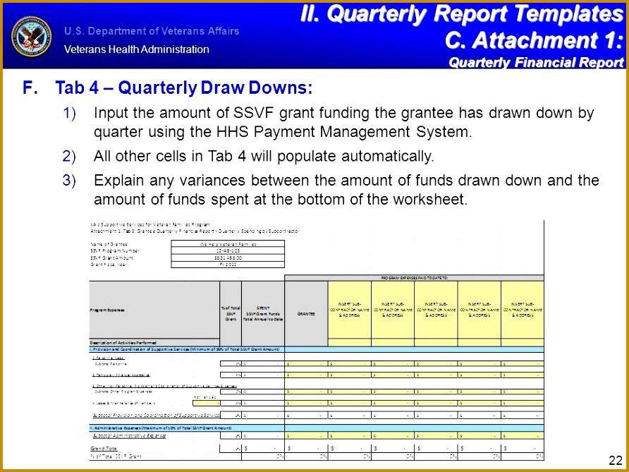 4 Quarterly Financial Report Template | FabTemplatez