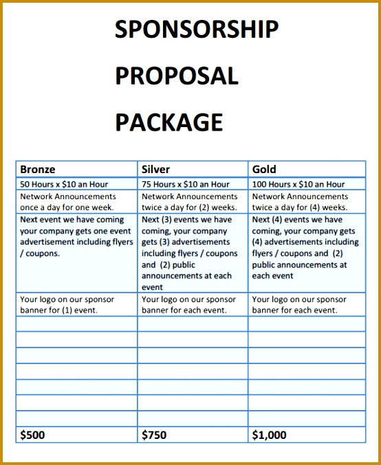 3 racing sponsorship proposal template