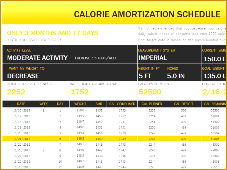 Fitness Schedule Template 558744