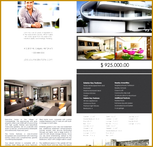 CALGARY REAL ESTATE FEATURE SHEET TEMPLATE 1 530511