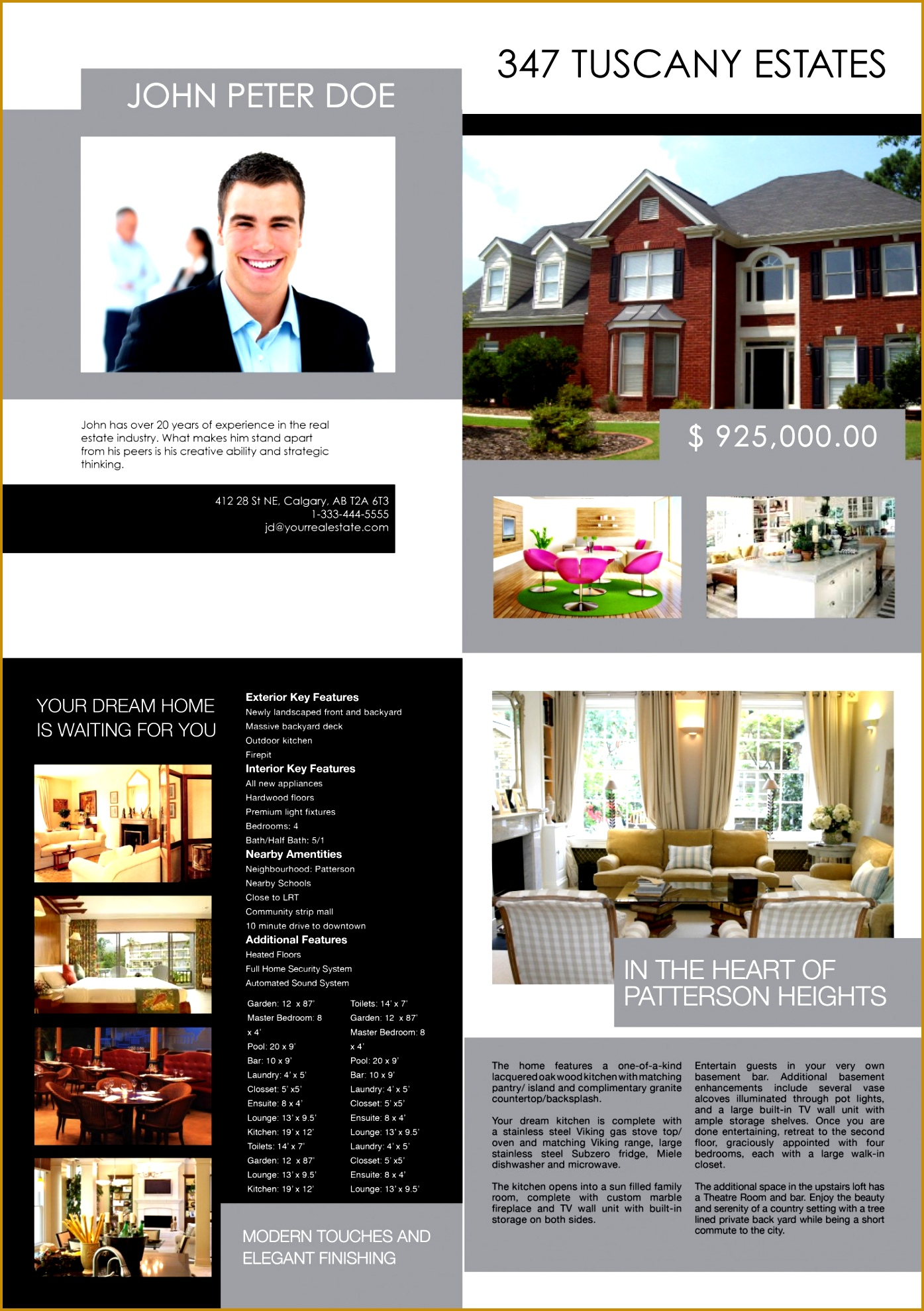 CALGARY REAL ESTATE FEATURE SHEET TEMPLATE 3 19791395