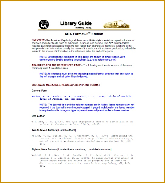 Reference List Format 604544