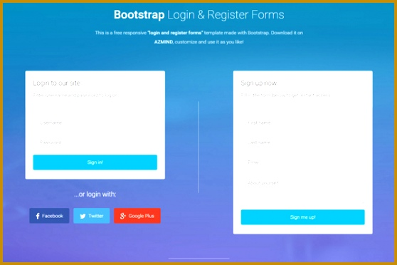 bootstrap form template free bootstrap themes templates azmind 372558