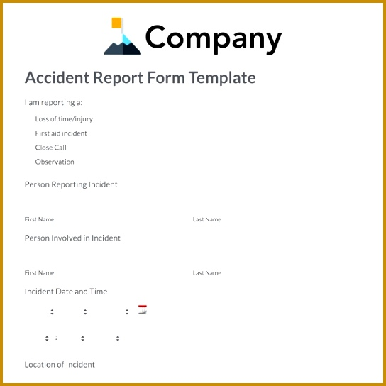 accident report form template 544544