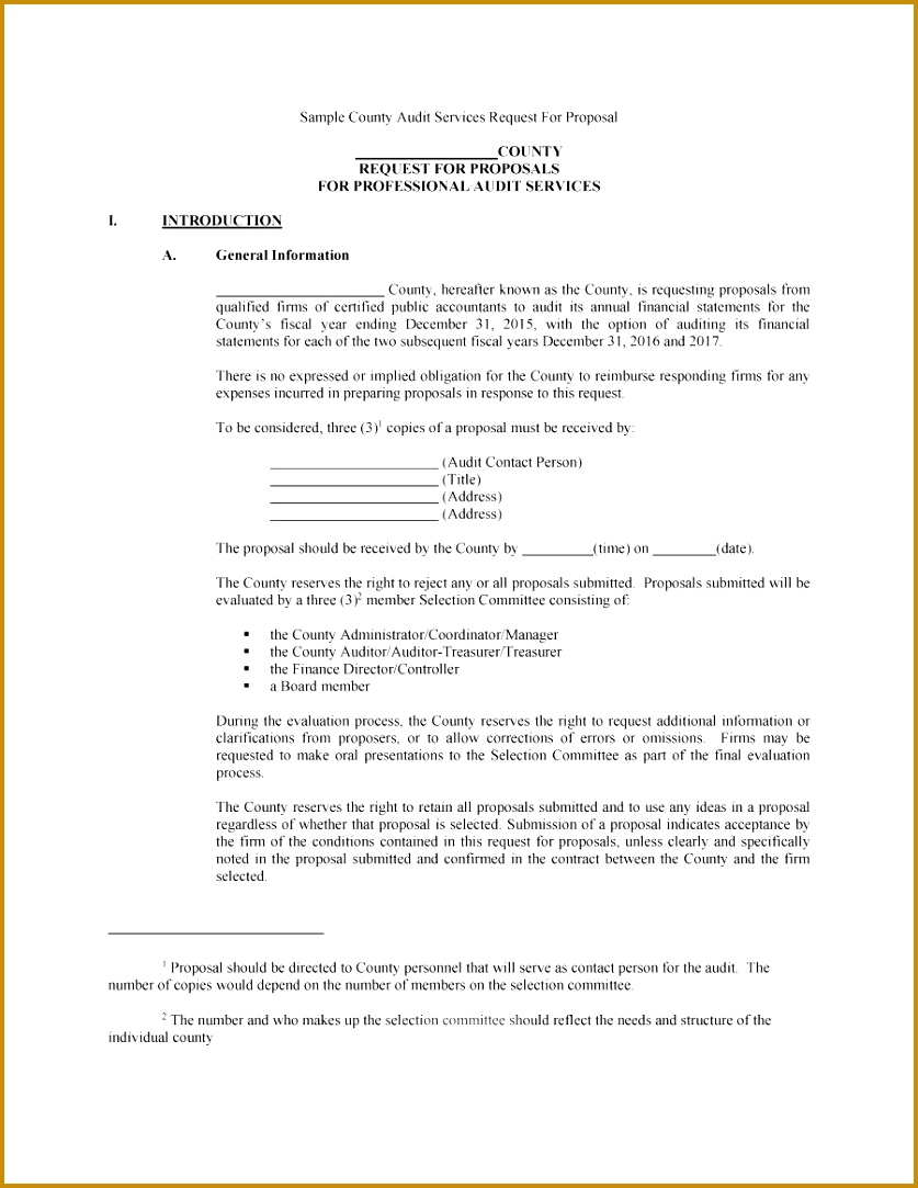 Printable Request for Proposal Template 22 8371083
