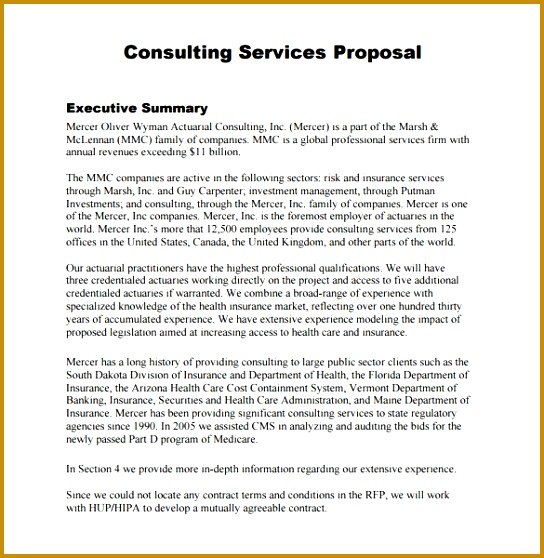 Consulting Proposal Template – 13 Free Sample Example Format 558544