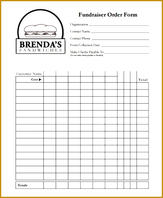 Fundraiser Order Form Template PDF Format 659544