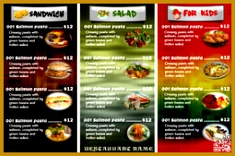 Colorful restaurant menu card 174262