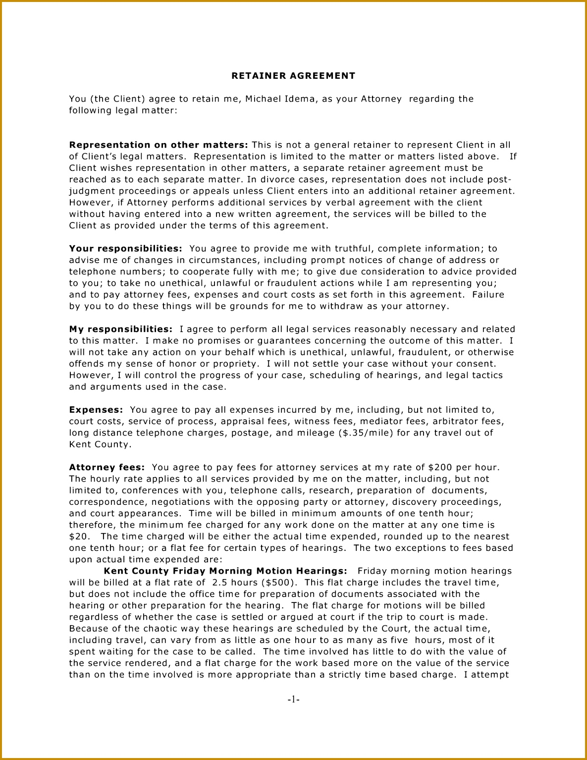 Retainer Proposal Template 56887 10 Best Of Retainer Agreement