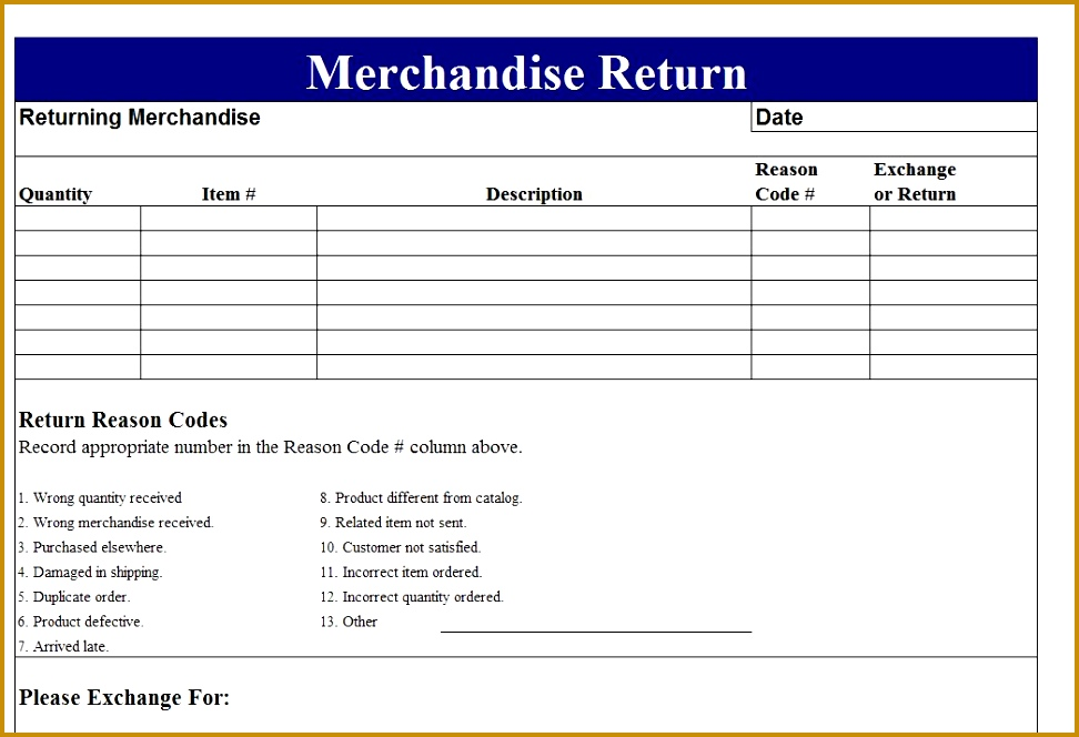 3 return material authorization form template