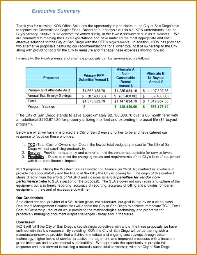 5 Rfp Cost Proposal Template | FabTemplatez