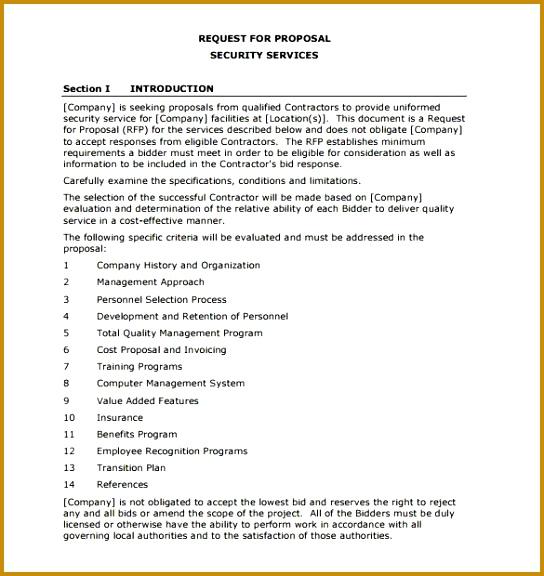 5 rfp cost proposal template fabtemplatez