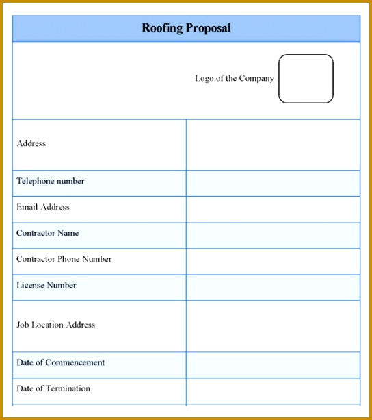 Download the Roofing Estimate Proposal Template 613544
