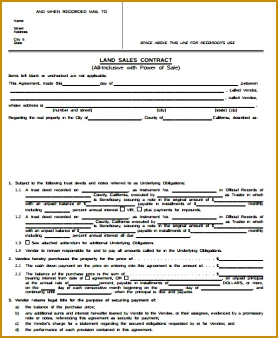 Simple Sales Contract Sample 9 Examples in Word PDF 678558
