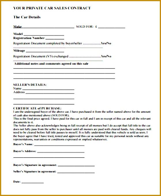 Simple Sales Contract Template - Resume Ideas - namanasa.com