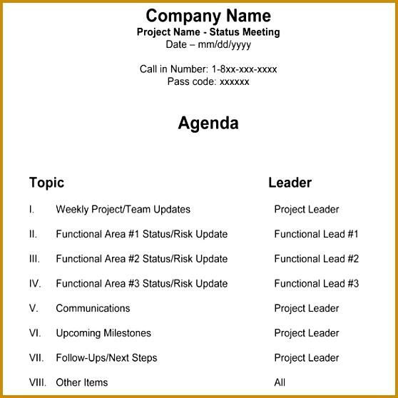 Meeting Program Sample 558558  Meeting Program Sample