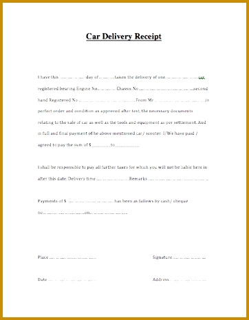 hand delivery receipt template 465362