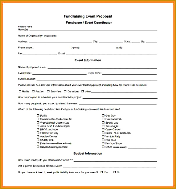 Fundraiser Proposal Template Church Fundraising Proposal 6 601562