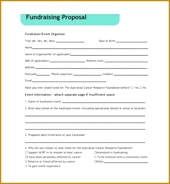 Sample Fundraising Proposal Template 7 Free Documents in PDF 558604