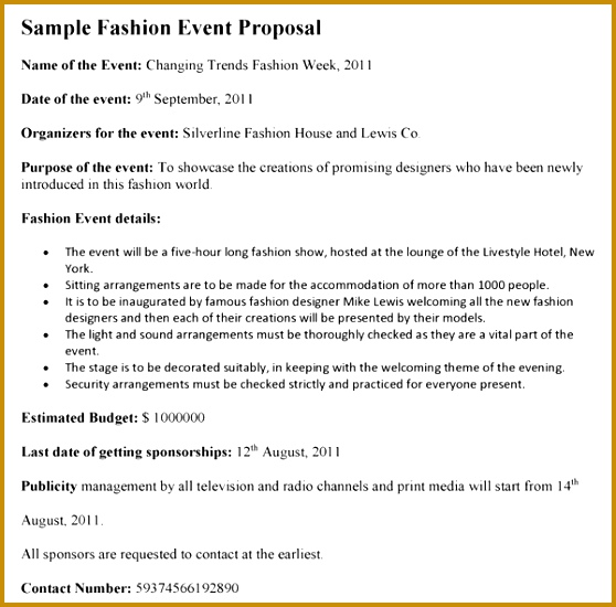 Fashion Event Proposal Template 550558