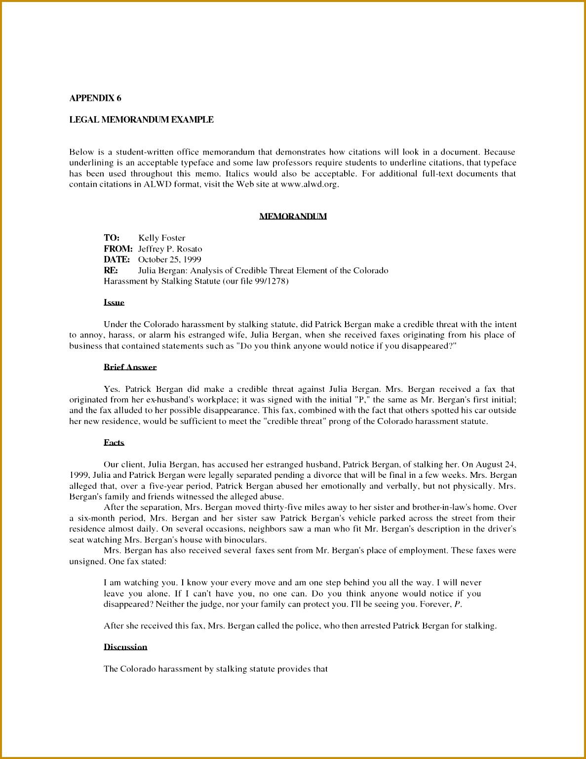 Sample Memo Format - 19+ Documents in PDF, Word |Sample Legal Memo Law