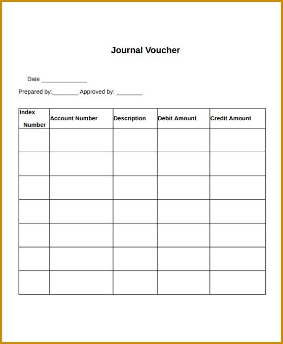 Journal Voucher Template 678558