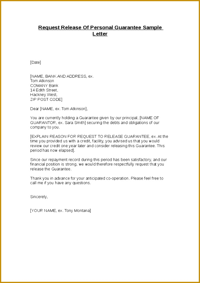 cancellation letter for bank guarantee
