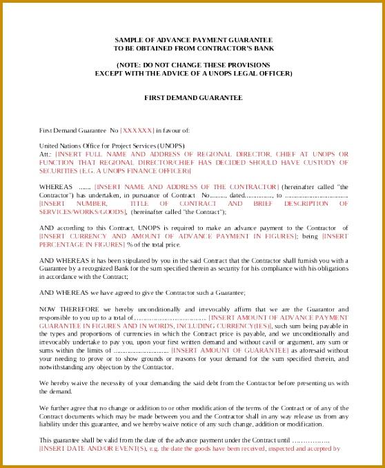 Guarantee Letter 678558