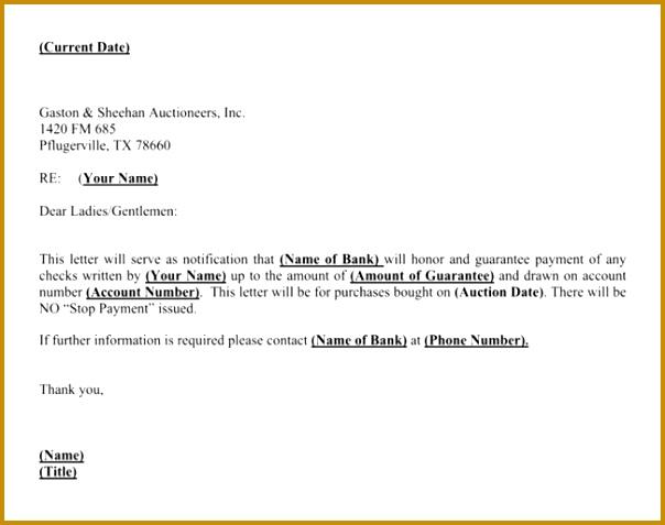 Rent Guarantee Letter 477604