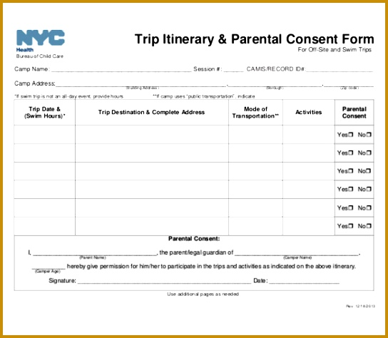 11 Trip Itinerary Templates – Free Sample Example Format Download 474544