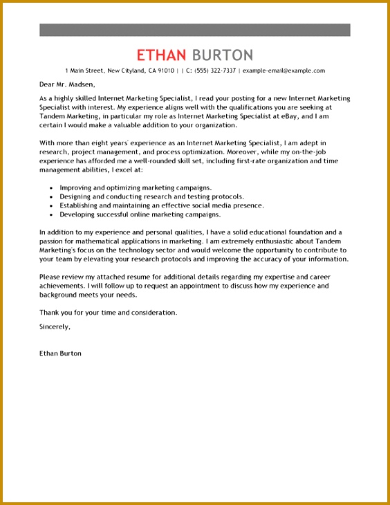 Unique Examples Marketing Cover Letters 78 In Cover Letter Sample For puter with Examples Marketing Cover Letters 730564