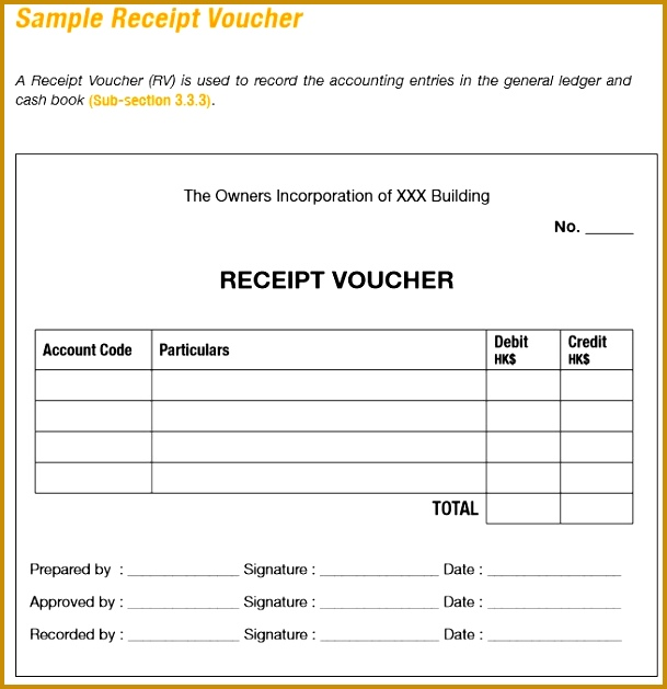 Here is preview of another Sample Receipt Voucher Template in PDF Format 629609