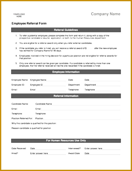 Employee referral form 558429
