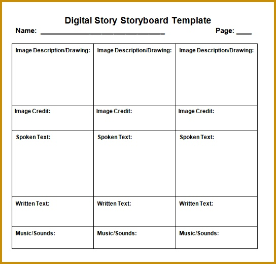 Digital Storyboard Template Doing A Digital Storytelling Lesson