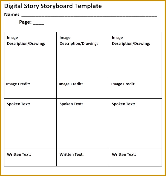 Sample Video Storyboard  Fabtemplatez