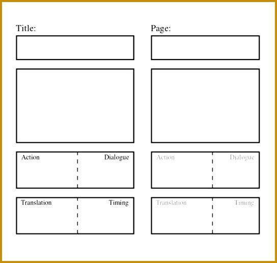 Blank Script Storyboard Template Word Sample 544516